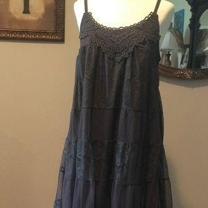 Dark grey tunic style dress